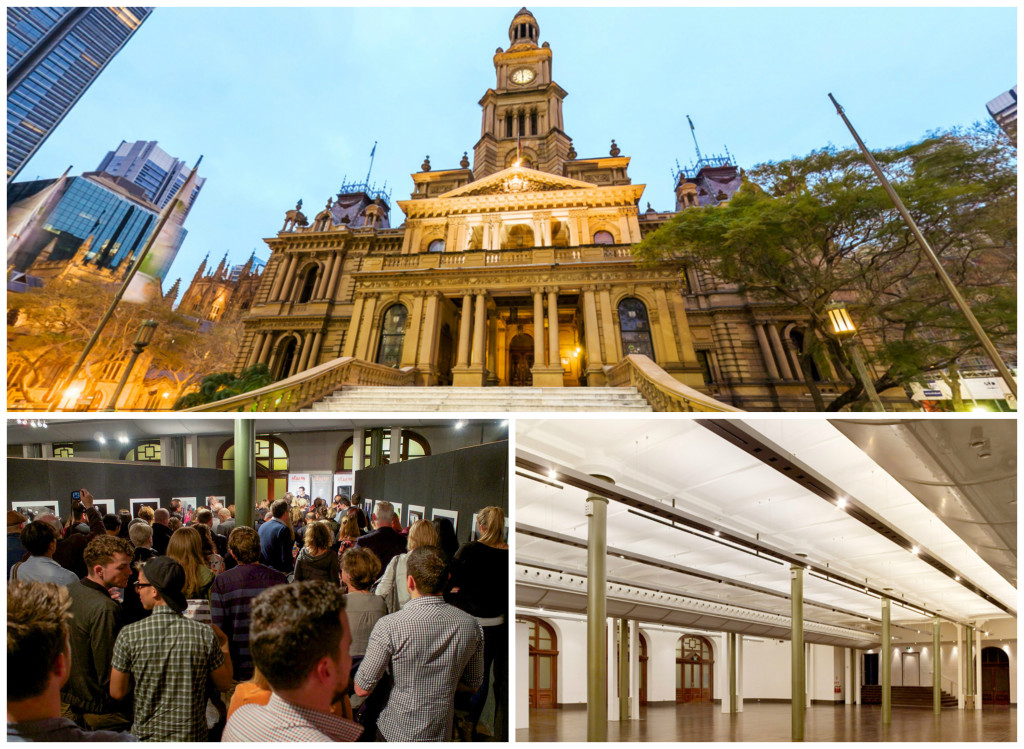 Sydney Lower Town Hall, waar Head On Photo Festival op 1 mei 2015 is geopend.